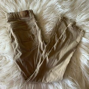 American Eagle tan ankle pants sz 4 jeggings short